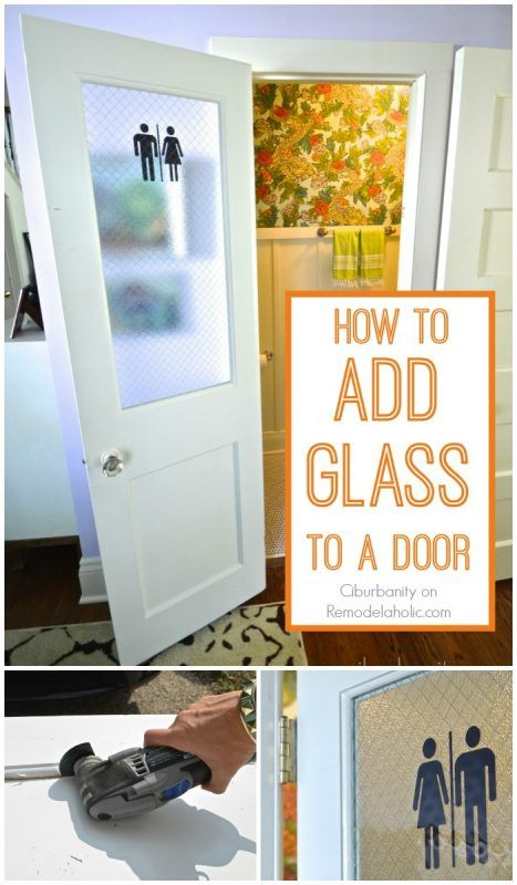 How To Add A Glass Pane To A Wood Door Remodelaholic Bloglovin