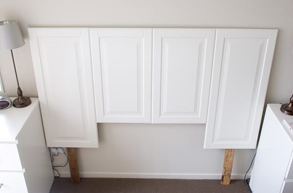 100 ways to use old doors remodelaholic bloglovin for How to make a headboard out of a door