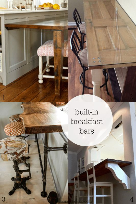Diy built in breakfast bar dining table remodelaholic for Built in kitchen tables ideas