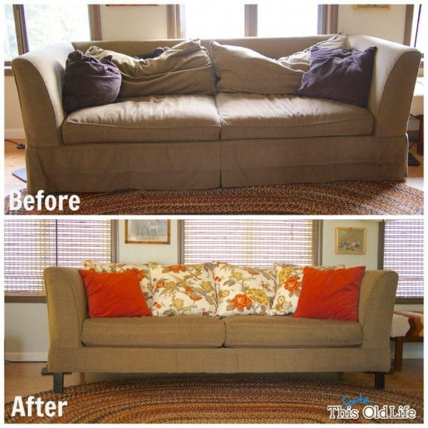 28 Ways To Bring New Life To An Old Sofa Remodelaholic