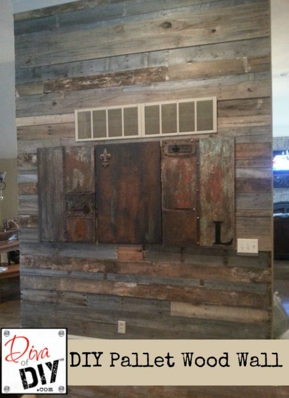 I Love To See How Many People Do The Same Thing In Different Ways Diva Of DIY Shows Another Pallet Wood Wall