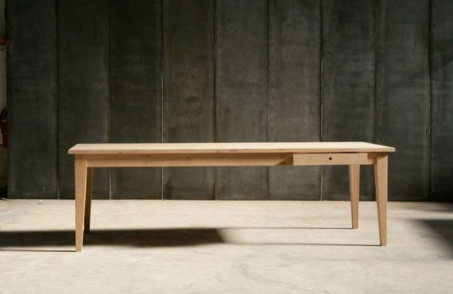 Above The Solid Oak 100 Centimeter Wide 39 Inch Farmer Table Is From Belgian Company Heerenhuis Manufactuur