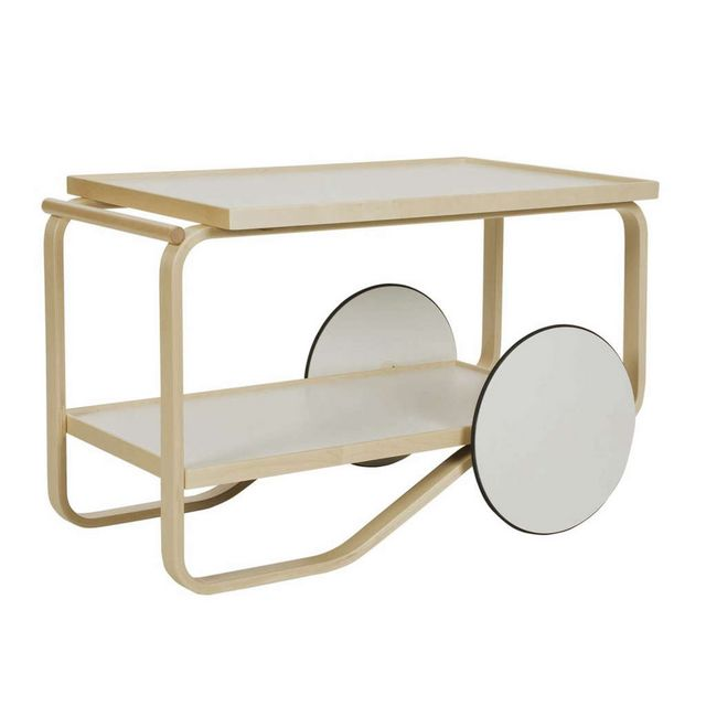 Above The Ikea Ps 2017 Side Table On Castors Has A Beech Frame With Powder Coated Steel Trays And Can Be Used As Work Station Coffee