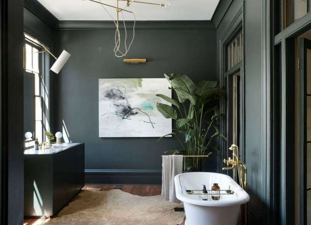 Steal This Look Moody Glamour In A Charleston Master Bath