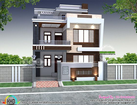 28'x 60' Modern Indian House Plan