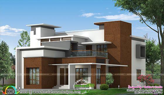 Box Type Modern Home Architecture Plan Kerala Home