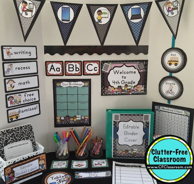 Classroom Decoration Free Printables ~ Technology themed classroom ideas printable