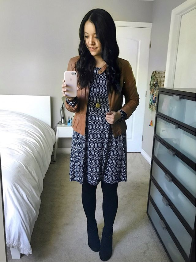 The PMT Style Challenge (HERE) and all the women doing the challenge  together inspired me to wear this pajama dress like this--and I love it! d9a9db249