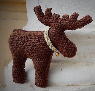 Marty the Moose | Crochet moose, Crochet mittens pattern, Crochet deer | 307x320