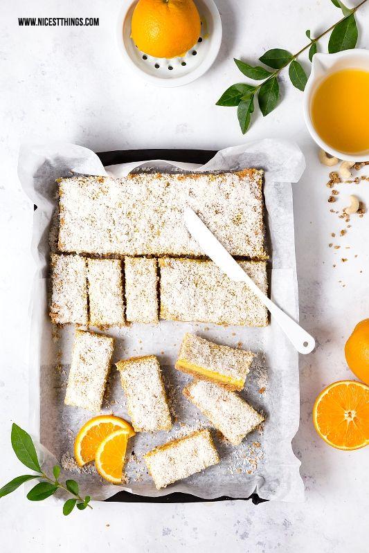 Orange Cashew Bars: Orangen-Müsli-Schnitten & Delinero Relaunch ...