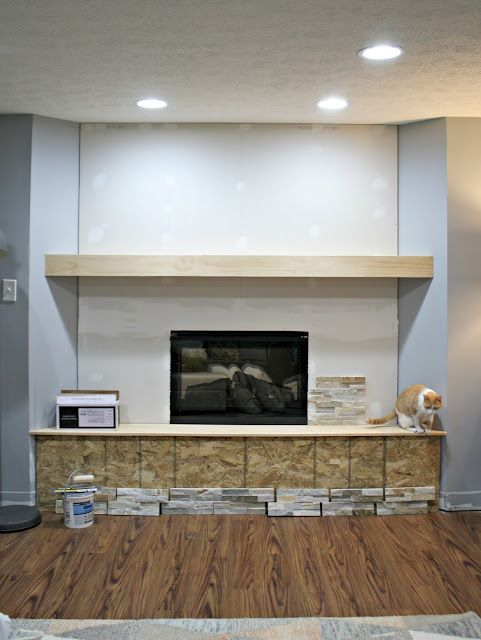 How To Install Stacked Stone Tile On A Fireplace Wall Thrifty Decor Chick Bloglovin