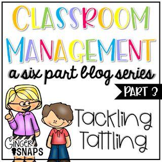 classroom management series part 3 tattling ginger snaps treats