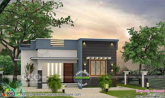 Low budget flat roof 2 bedroom house 700 sq-ft   Kerala ...