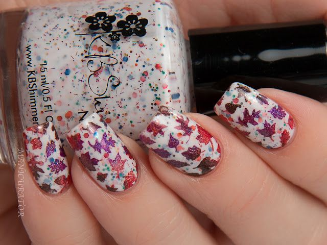 KBShimmer Fall 2016 Leaf Gradient Nail Art with Whats Up Nails ...