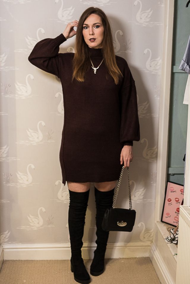 043ba2924139 Dress - River Island Boots - River Island  Bag - Mulberry Lily Necklace -  Zara Taylor I m a bit late to the  over the knee boots  party.
