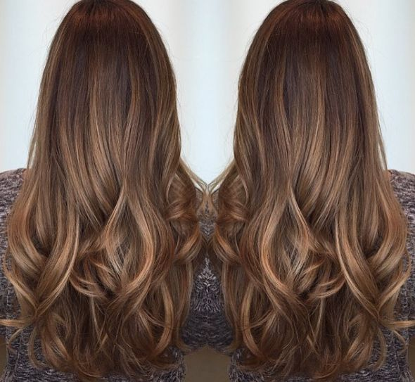 Flattering Caramel Highlights On Dark Brown Hair Hairstyles Hair