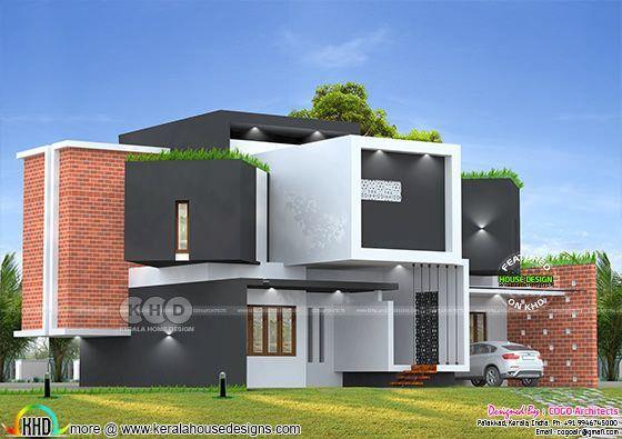 3825 Square Feet Cool Ultra Modern House Design Kerala