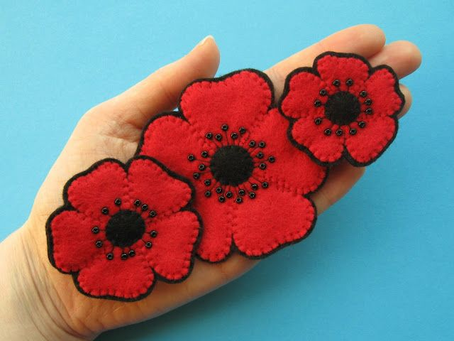 New In My Shop Felt Poppies Tutorial Poppy Embroidery Pattern