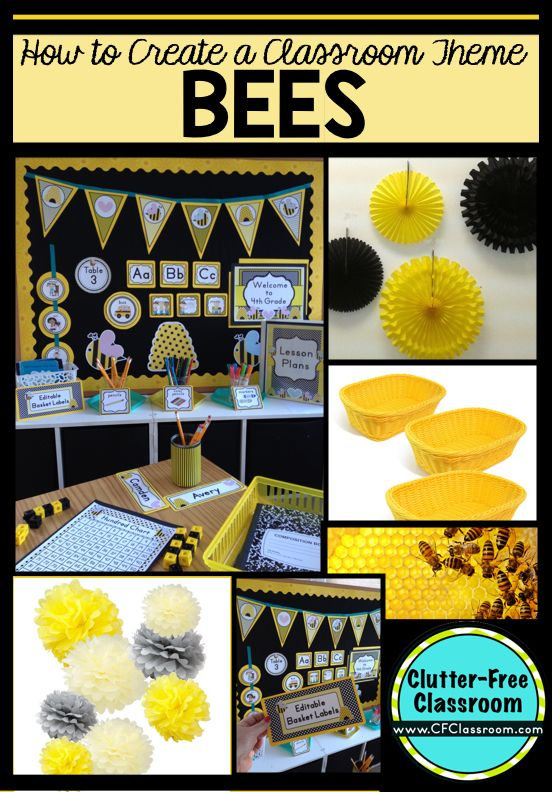 Classroom Decor Bees : Bees themed classroom ideas printable