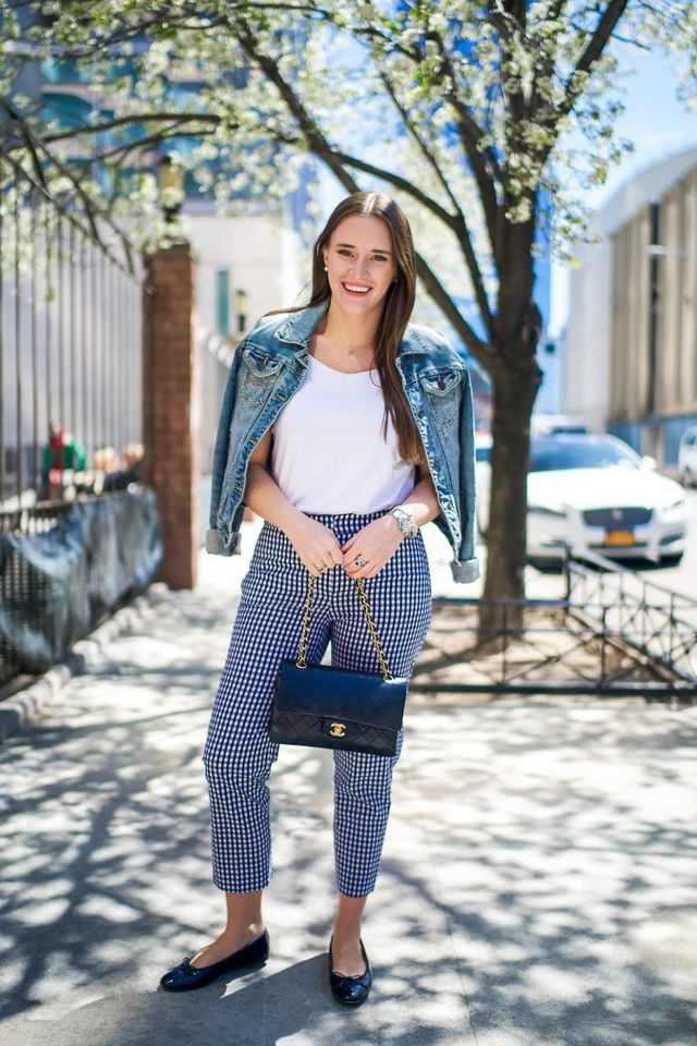 46d253e31f7d How to Style Gingham Pants for Work | Covering the Bases | Bloglovin'