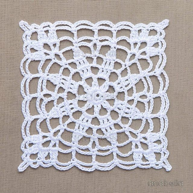 Crochet lace motifs in pink and white, free patterns | Anabelia ...