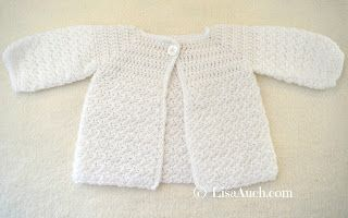 3791fb999dc6 Crochet Baby Cardigan Easy Free Pattern