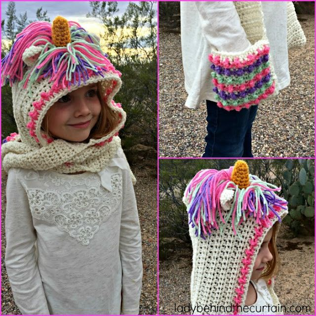 Unicorn Hooded Scarf Free Bees And Appletrees Bloglovin
