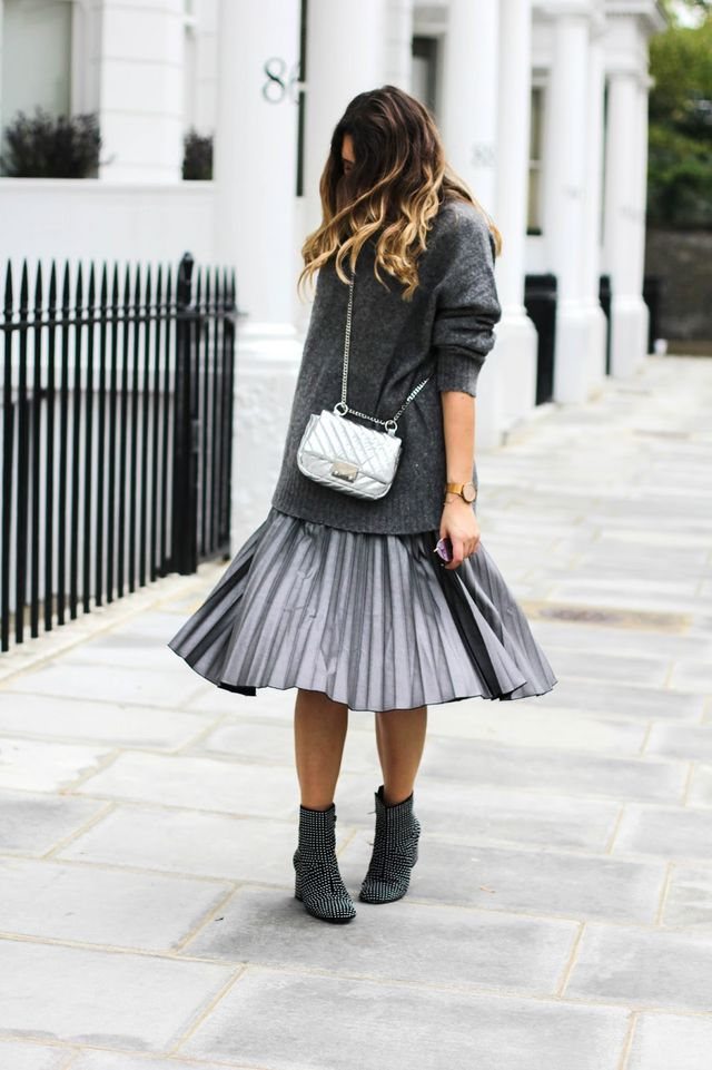 6134737e88 How To Wear A Pleated Midi Skirt This Winter | What's In Her ...