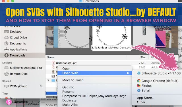 Open SVG Files by Default with Silhouette Studio Instead of Your