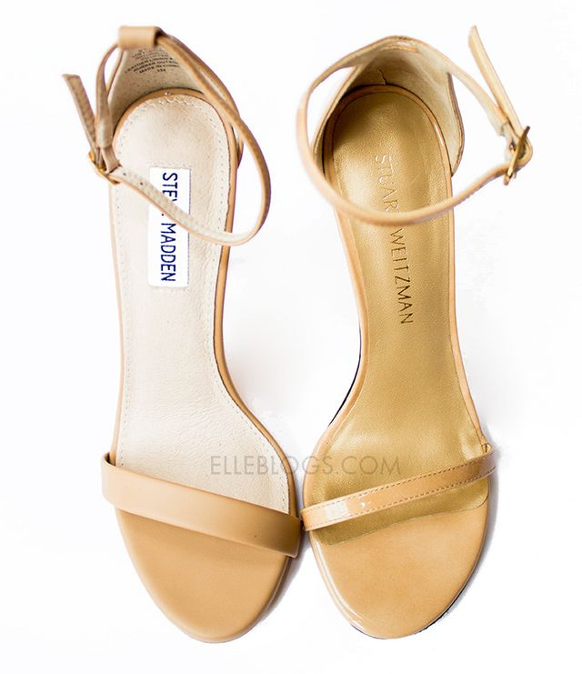 COMFORT Both styles have four-inch stiletto heels and thin ankle straps,  which make them poor walking shoes. I ended up keeping the