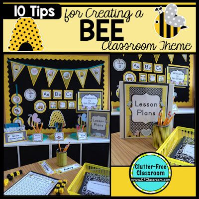 Create A Bee Background On Bulletin Boards By Using Yellow Fabric With Black Electrical Tape This Will Not Only Be Cheaper But Appear Less Busy As