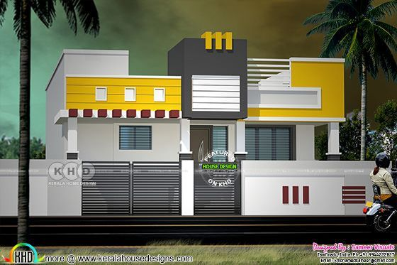 modern south indian style single floor home kerala home design