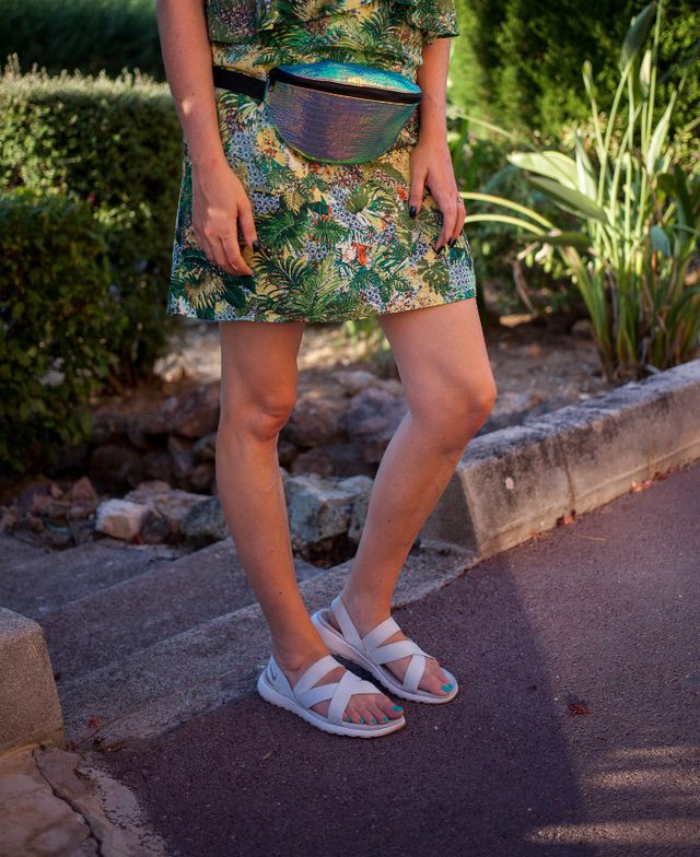 348bcf31b495 dress  Mango - sandals  Nike Roshe One - holographic bum bag  ASOS - panama  hat  H M - necklace    Other Stories - rings  Diamanti Per Tutti Every year  ...