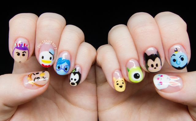 Disney tsum tsum character nail art chalkboard nails bloglovin in august sean and i went with a couple of friends to disneyland i hadnt been in a few years so i obviously had to go all out with the nail art prinsesfo Gallery