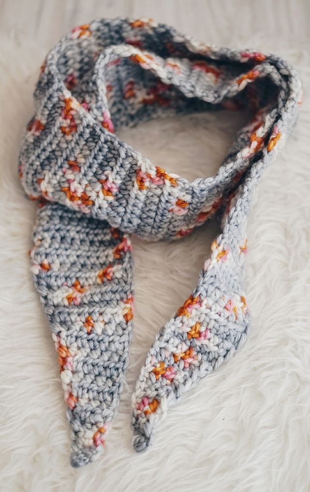 Tipped Crochet Scarf Pattern With Delicious Yarns Little Things