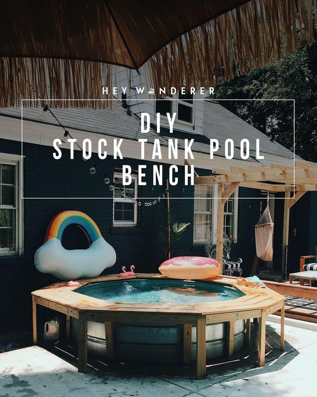 DIY: Stock Tank Pool Bench | heywandererblog | Bloglovin'