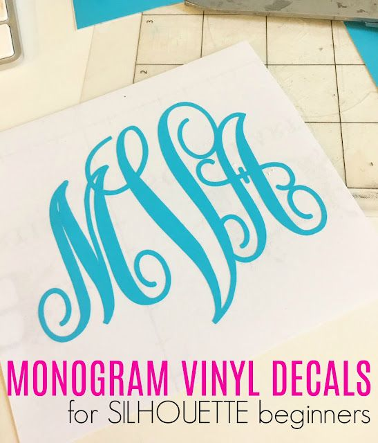 d0b2b3cf How to Cut a Vinyl Monogram with Silhouette CAMEO   Silhouette ...