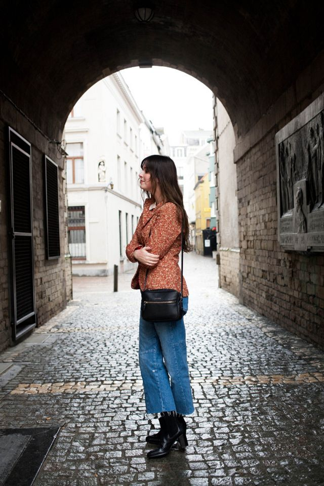 7c55e48e9d Outfit: rainbow striped polo, cropped denim | The Styling Dutchman ...