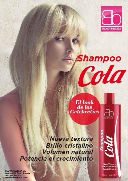 """El champú """"Haircola Shampoo"""" de BELKOS BELLEZA ha sido creado para  potenciar la textura natural del cabello. Actúa en el cabello tensando la  cutícula ff73f1023946"""