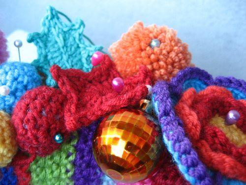 Crochet Christmas Wreath Kleurrijke Kerstkrans Haken Bees And