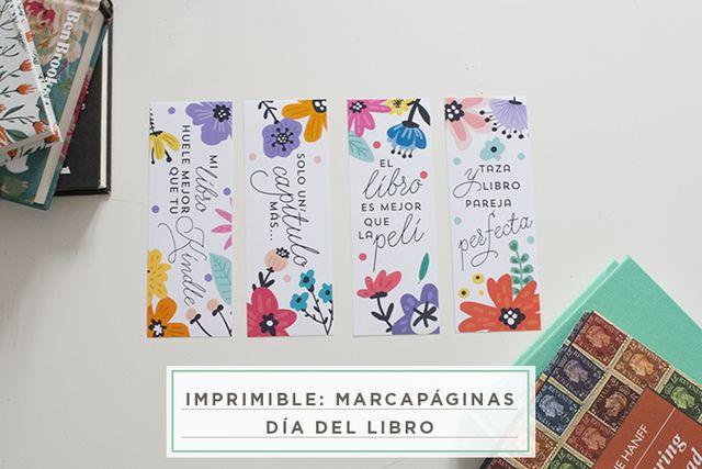 imprimible: marcapáginas para el día del libro | Milowcostblog ...