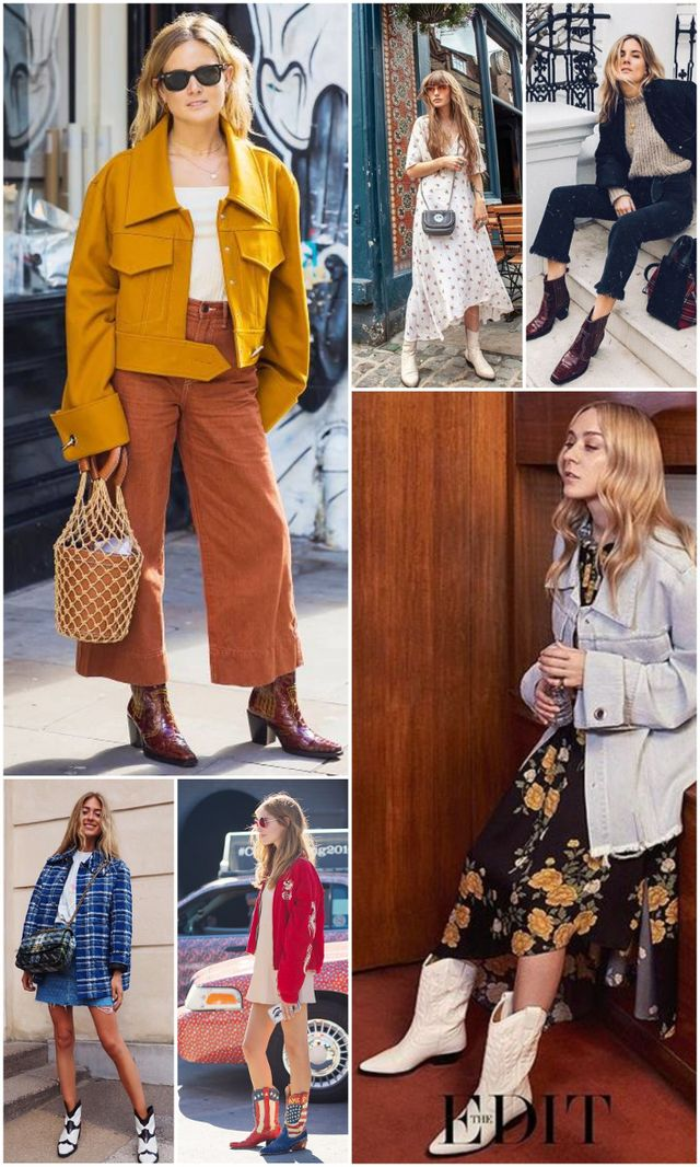 promo code 85dde e659f Source  left to right, starting from top left - 1 - 2 - 3 - 4 - 5 - 6. It  is undeniable  Western boots are having a serious moment in fashion, ...