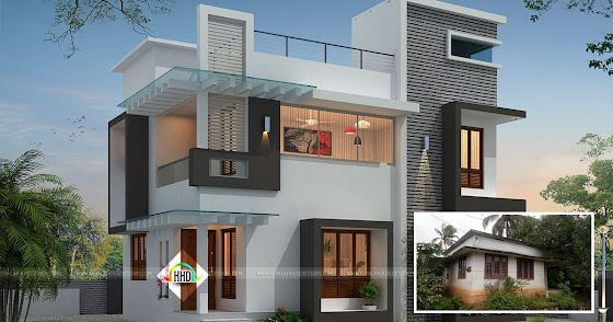 Square feet details of this house total area 1254 sq ft no of bedrooms 3 style modern contemporary nature of work renovation work