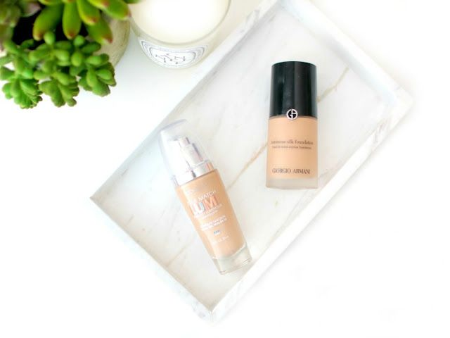 ff4063fc6da And I get asked about Giorgio Armani Luminous Silk Foundation VS L'Oreal  True Match Lumi A LOT since there's a popular Pinterest pin about it.