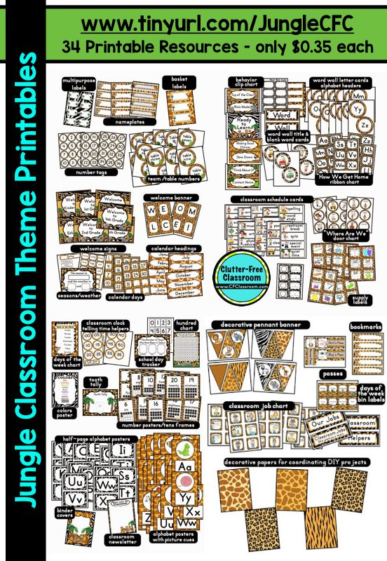 1efa995e83c  click to download and access these Jungle Theme Decor printables