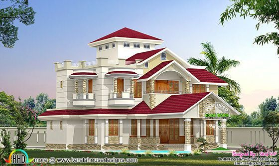 One Home In 2 Different Colors Kerala Home Design Bloglovin