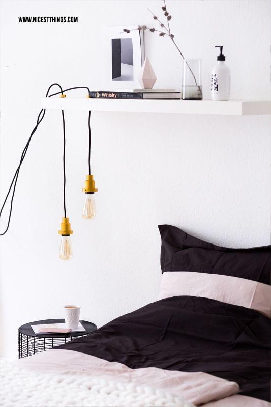 diy lampe selber machen h ngelampe mit vintage gl hbirne nicest things bloglovin. Black Bedroom Furniture Sets. Home Design Ideas
