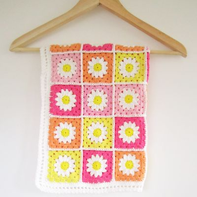 Daisy Flower Granny Square Bloem Granny Square Bees And
