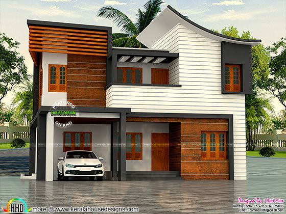 30 lakh cost 1900 sq ft 4 bedroom home kerala home for Veedu plan and estimate
