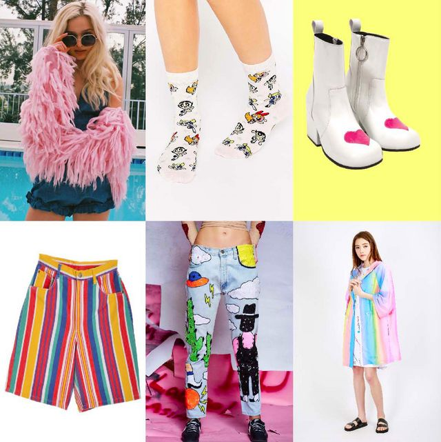 dcc17c0f93 CLOCKWISE: Lovers & Drifters Pink Shaggy Jacket ASOS Powerpuff Girls Socks  UNIF Moxie Heart Boots Beyond Retro Rainbow Stripe Shorts Di$count Universe  ...